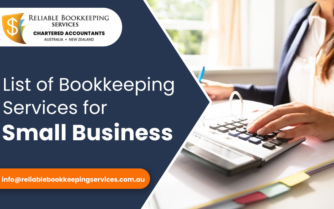 List of Bookkeeping Services for Small Business